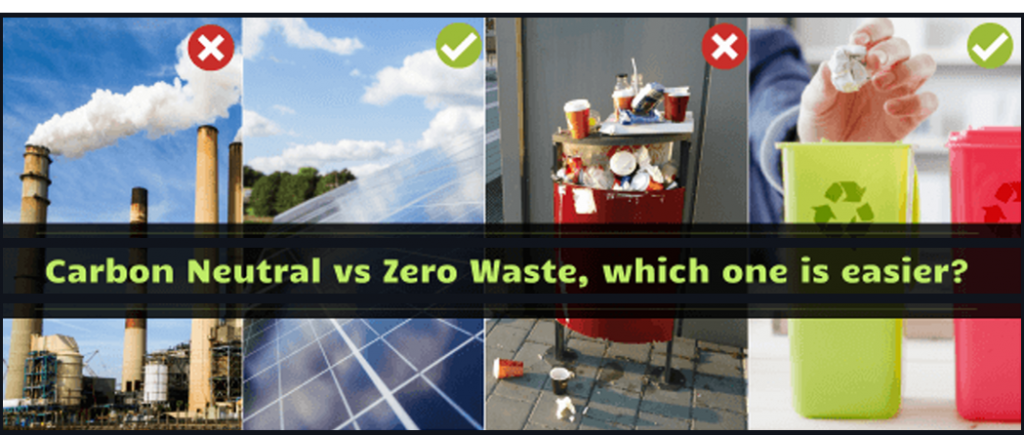 Carbon Neutral VS Zero Waste, which one is easier?