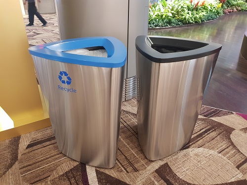 Recycling bins in Changi Airport #3 - picture taken on 12th October 2019