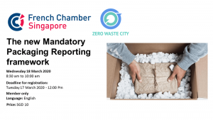 Presentation at the French Chamber of Commerce of the Mandatory Packaging Reporting framework