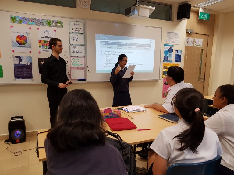 After brainstorming, students shared their ideas on how to reduce waste