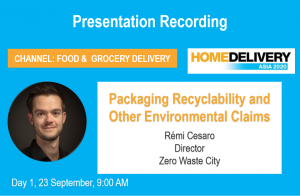 Packaging recyclability presentation Home Delivery 2020 conference